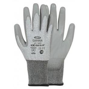 CARVER 1 VE = 12 Paar Schnittschutz-Handschuh (gra