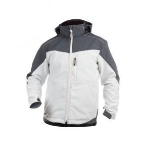 DASSY® Softshell-Jacke Jakarta weiß/zementgrau