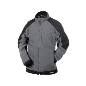 DASSY® Damenfleece-Jacke Kazan zementgrau/schwarz