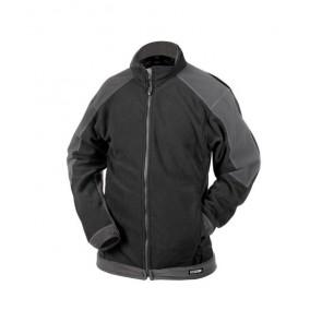 DASSY® Fleece-Jacke Kazan schwarz/zementgrau