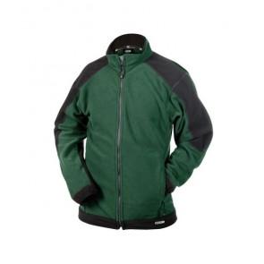 DASSY® Fleece-Jacke Kazan flaschengrün/schwarz