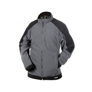 DASSY® Fleece-Jacke Kazan zementgrau/schwarz
