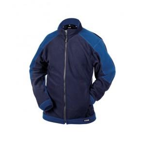 DASSY® Fleece-Jacke Kazan dunkelblau/kornblau