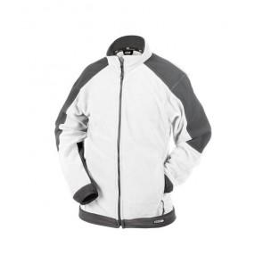 DASSY® Fleece-Jacke Kazan weiß/zementgrau